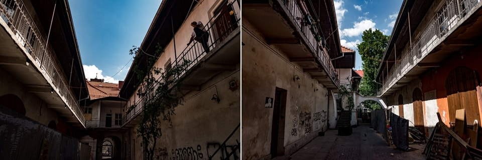 Внутренний двор с балконами Казимеж