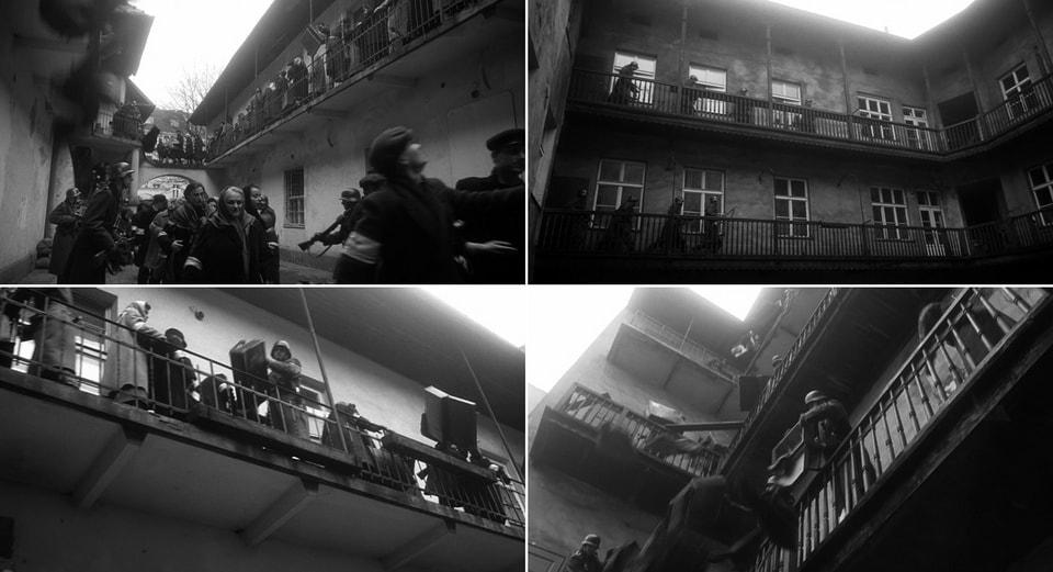 Внутренний двор с балконами Schindler's list 1993