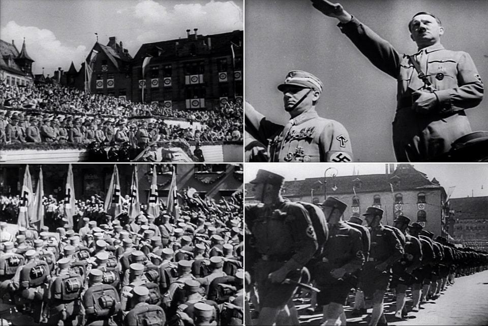 Nazi parade in Nuremberg 1934 Leni Riefenstahl
