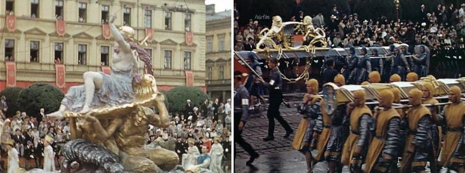 цветные кадры карнавального шествия в Мюнхене