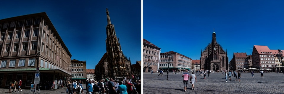 The main square of Nuremberg - Nuremberg nazi sites ww2
