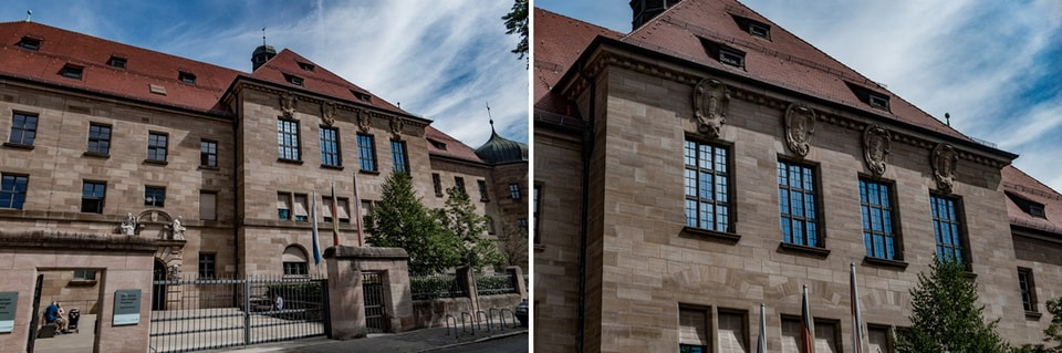 THE PALACE OF JUSTICE in Nuremberg