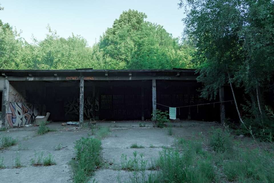 Sorting facilities of the former concentration camp