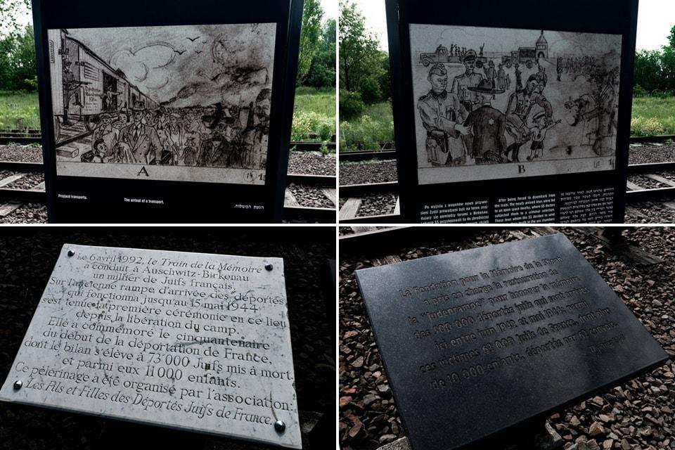 Alte Judenrampe memorial Birkenau