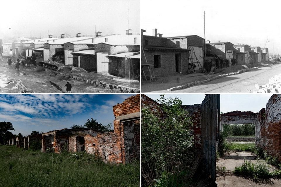 KARTOFFEL LAGERHALLE Auschwitz camp