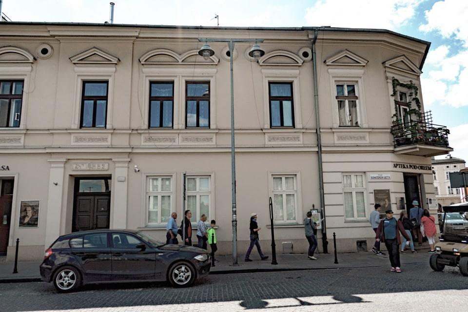 Pharmacy under the Eagle Krakow ghetto today