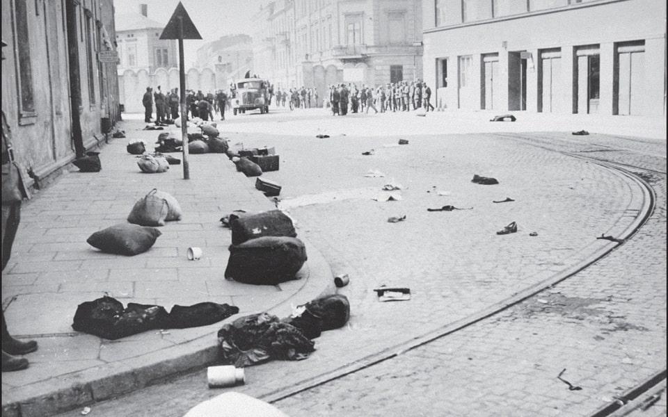 Ghetto gate № 3 liquidation of the Krakow ghetto 1943