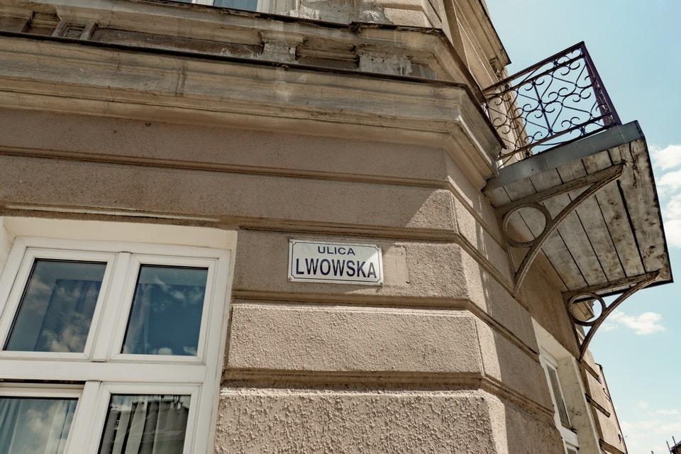 Lwowska street today, Krakow, Poland