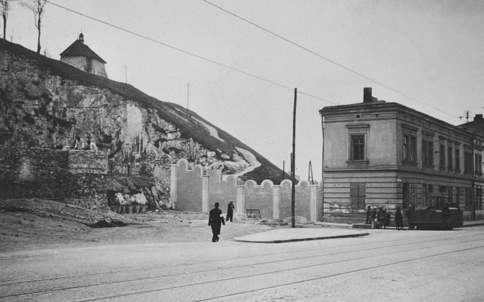 Krakow ghetto wall