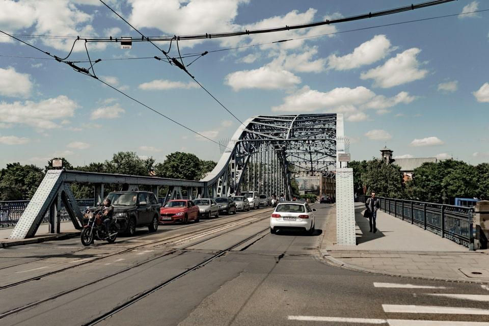 Jozef Pilsudski bridge in Krakow