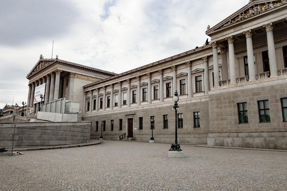 Parliament in VIenna Hitler
