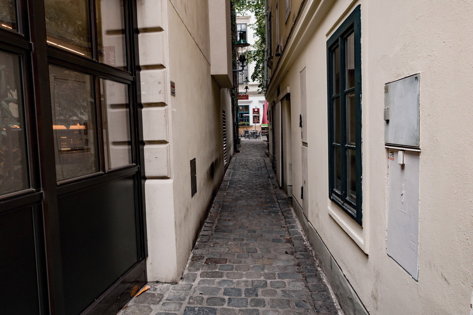 Narrow streets of Spittelberg district