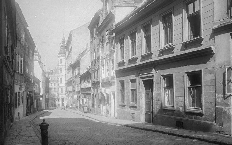 Spittelberg district in Vienna old photo