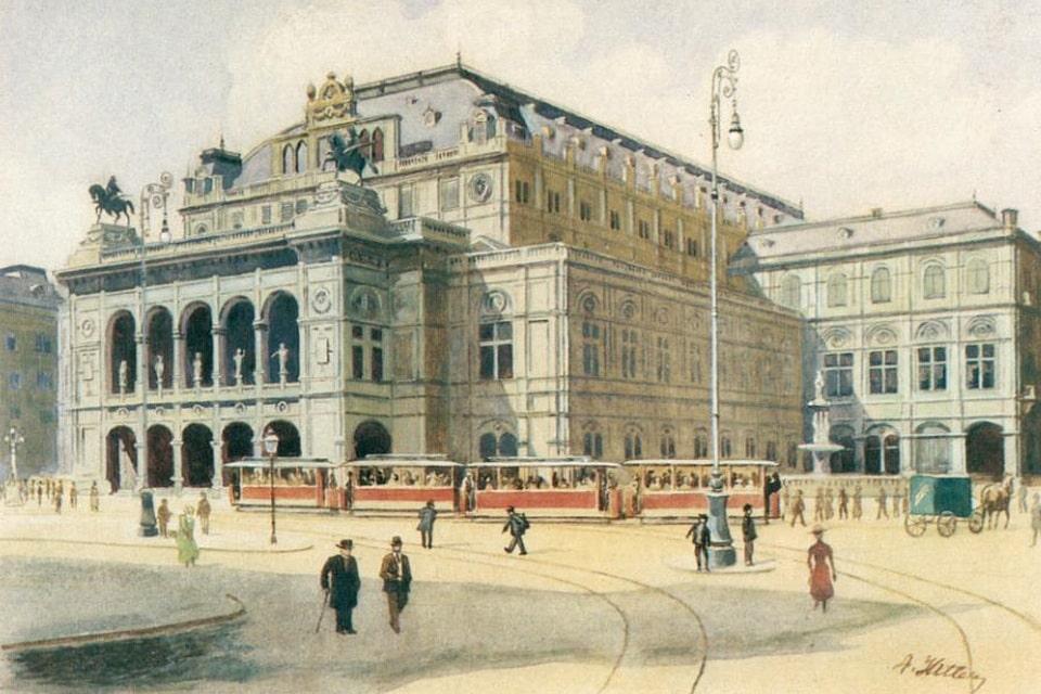 Hitler's painting of the Staatsoper state opera