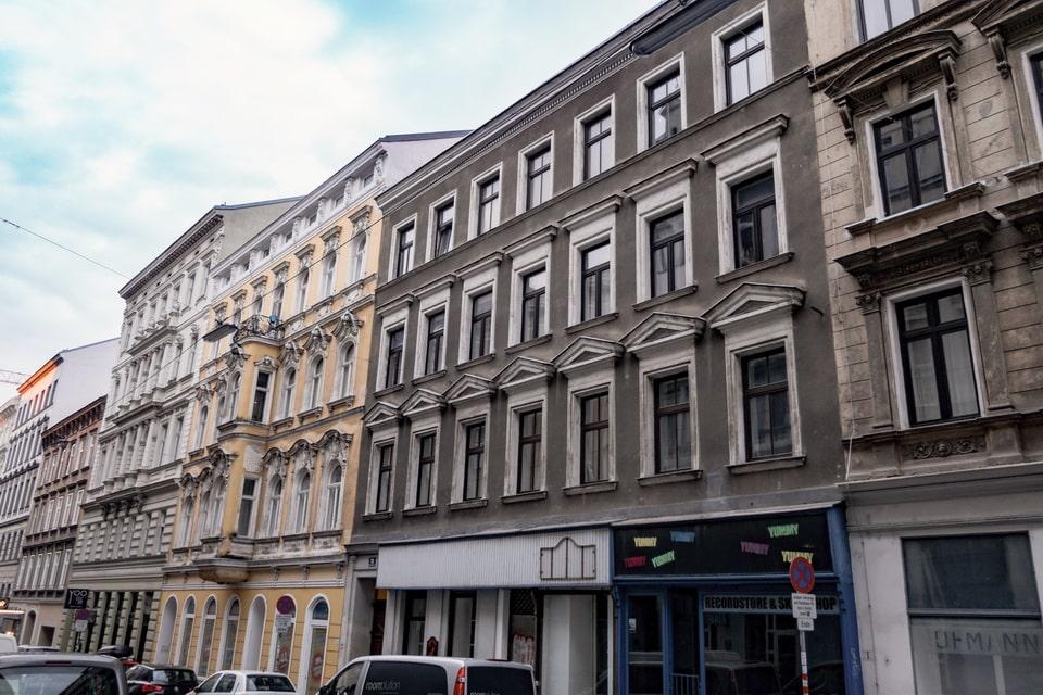 Adolf Hitler house in Vienna. Stumpergasse 31