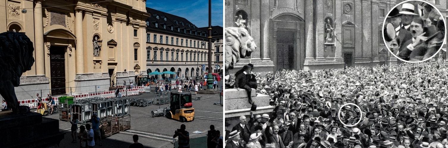Odeonsplatz Hitler 1914