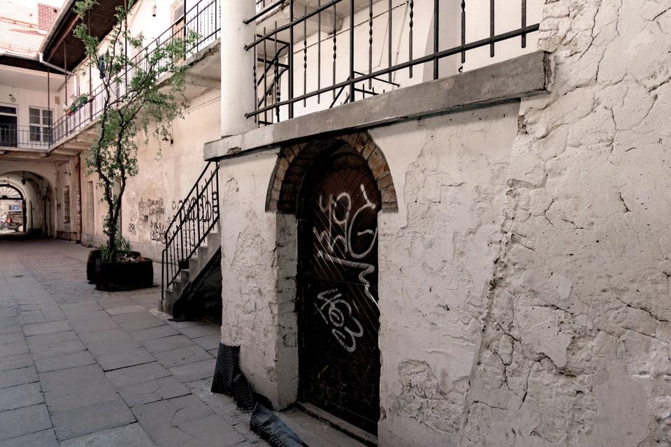 Staircase, where miss Dresner hid Schindler's list