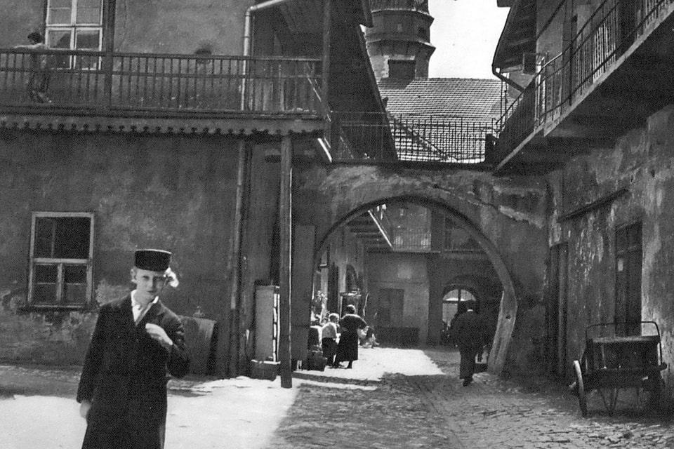 Former Jewish courtyard Poland