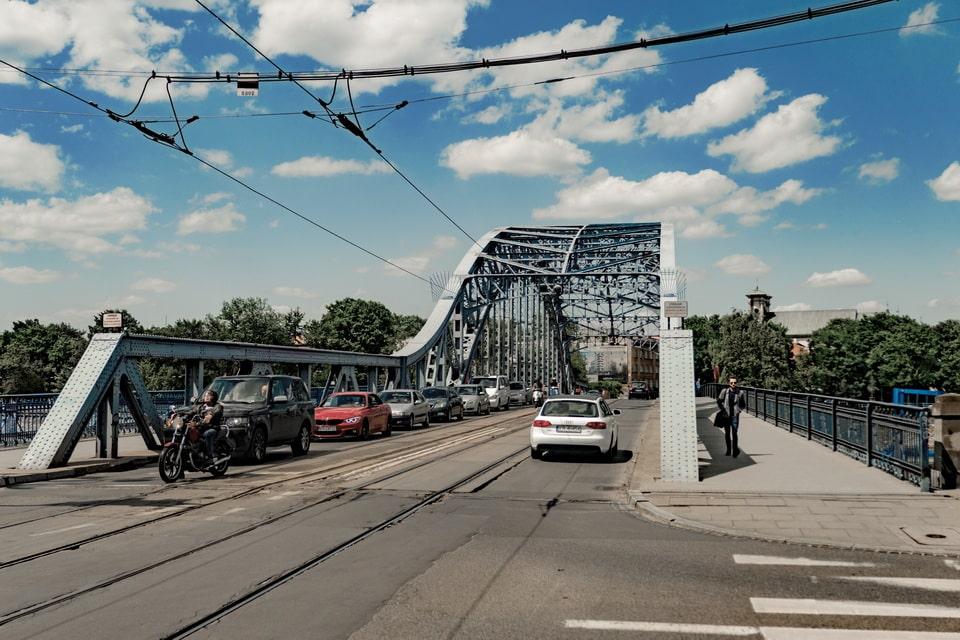 Joseph Pilsudskiego bridge Krakow