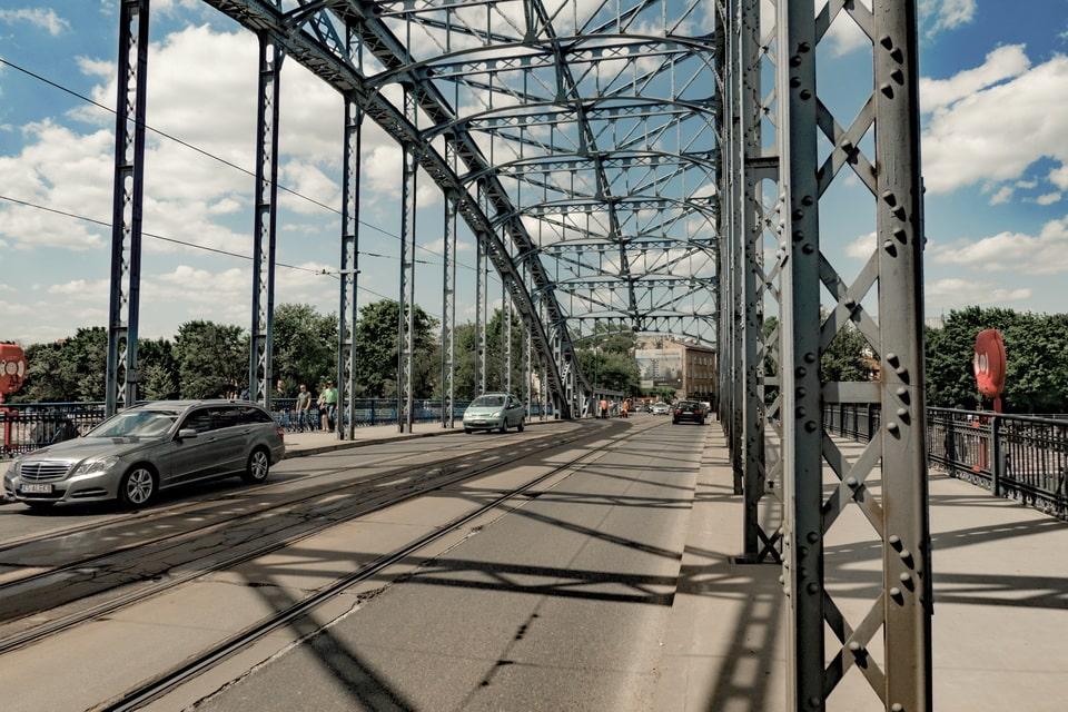 Pilsudskiego bridge Krakow today