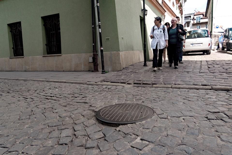 Leopold Pfefferberg in the street Krakow