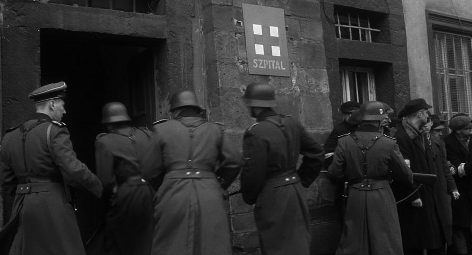 Ghetto hospital. Schindler's list scene