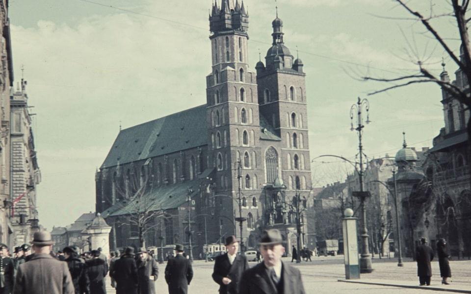 St. Mary's Basilica in Krakow 1943
