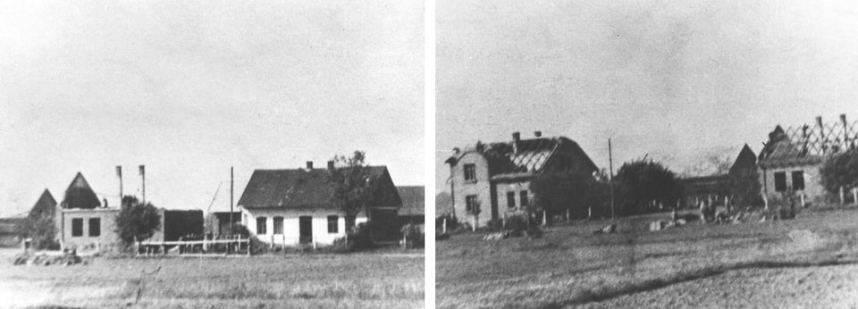 Brzezinka village in 1941, Auschwitz birkenau territory