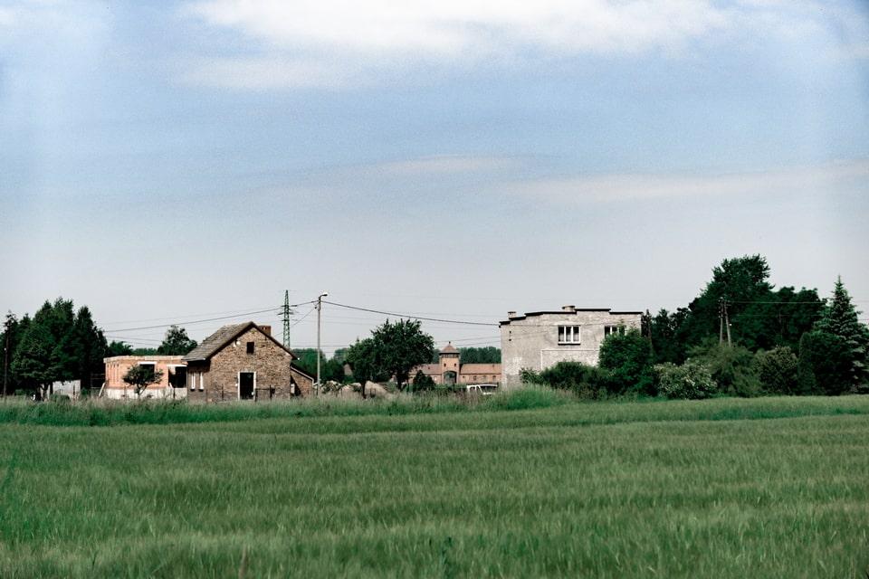 Brzezinka village in the vicininy of the Auschwitz 2