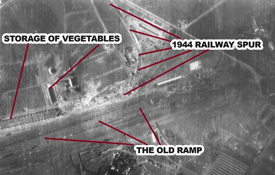 Jewish undloading ramp in Birkenau