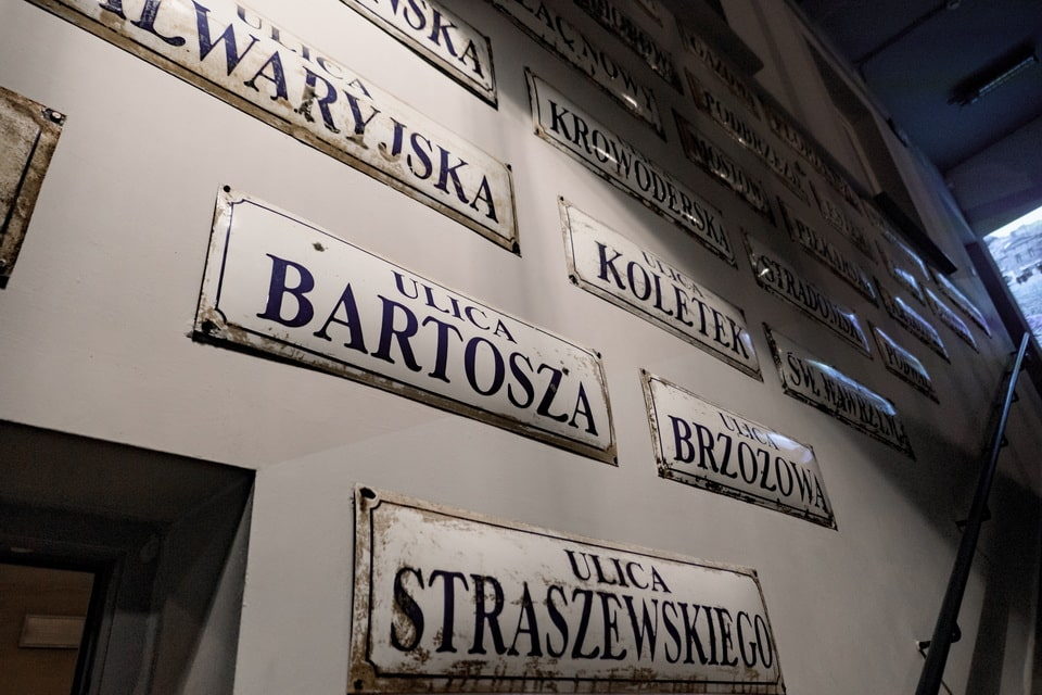 The signs of the Krakow streets