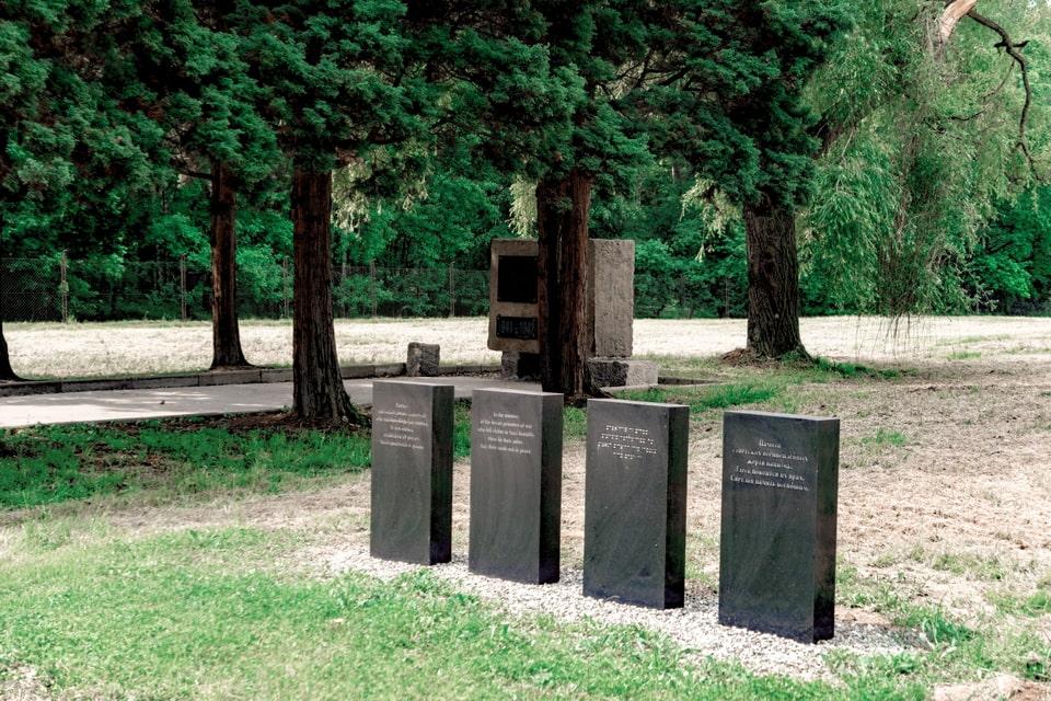 Memorial to the Soviet pows in Birkenau