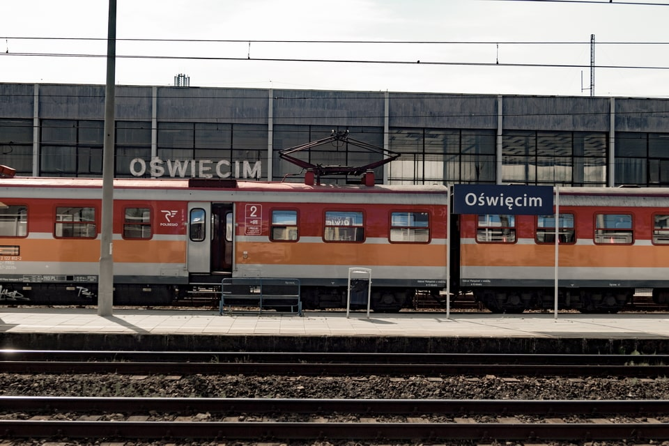 Train station of the Polish city of Oswiecim