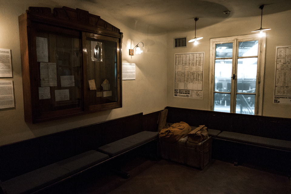 Station waiting room: DEF factory museum