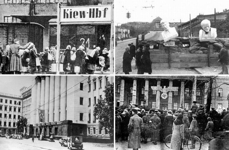 The occupation of Kiev WW2