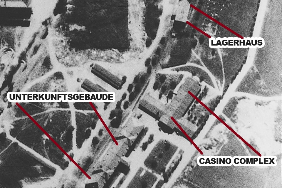 The SS casino complex and Cantee in Auschwitz camp