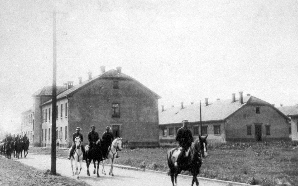 Pre-war polish barracks in Oswiecim