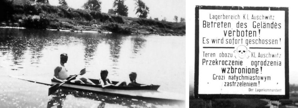 Rudolf Hoss with his children at Sola river