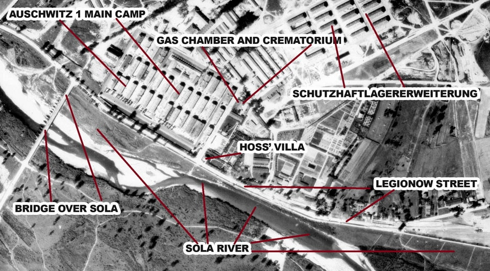 The Sola River aerial in Oswiecim