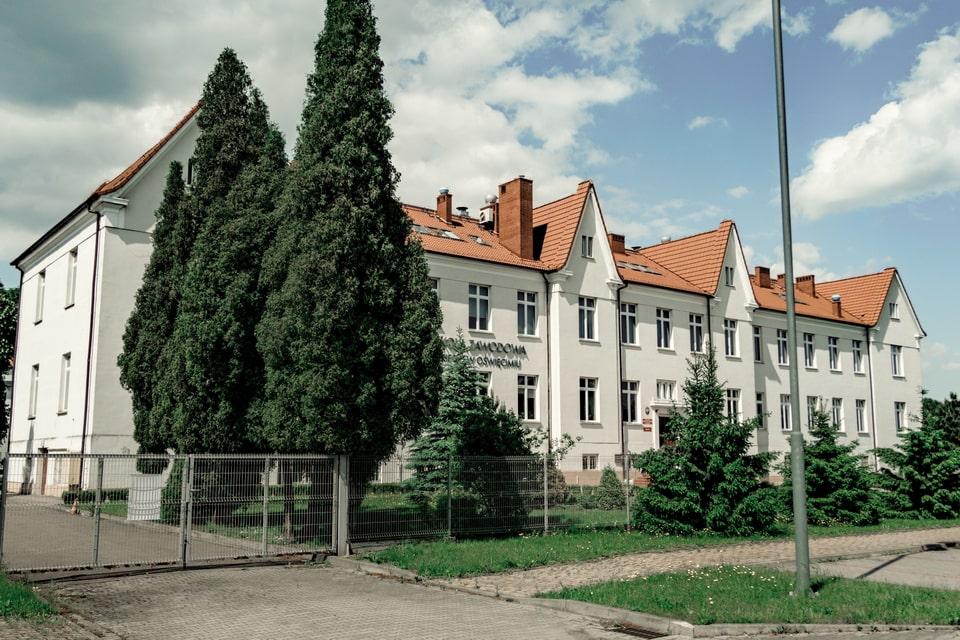 Stabsgebaude building in Oswiecim main camp
