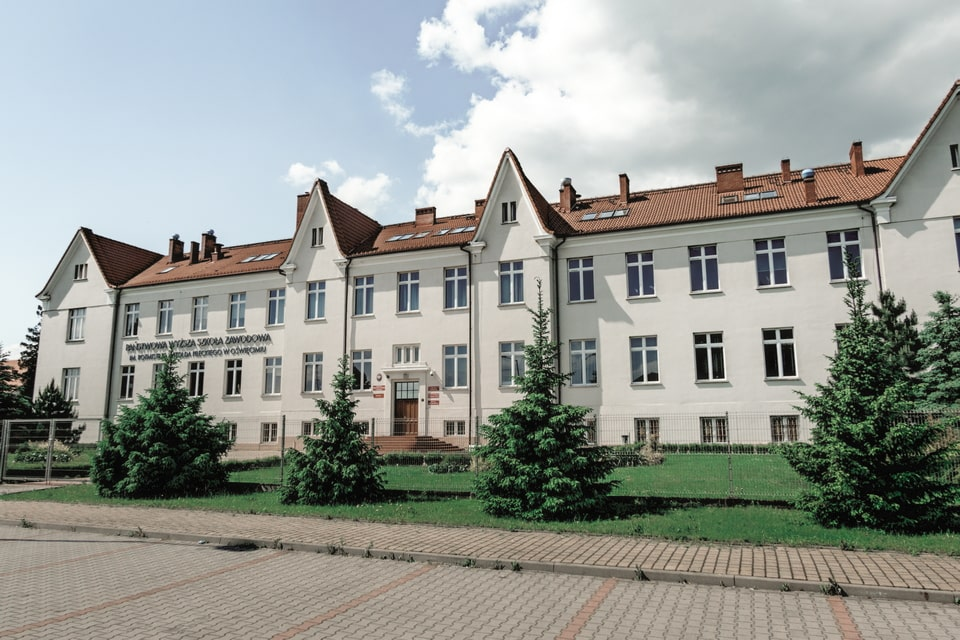 Stabsgebaude budiling: the SS building in Oswiecim