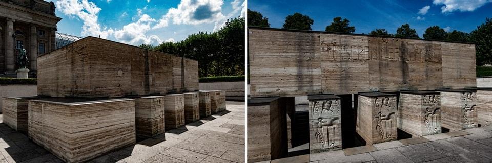 SIE WERDEN AUFERSTEHEN. The War memorial in Munich