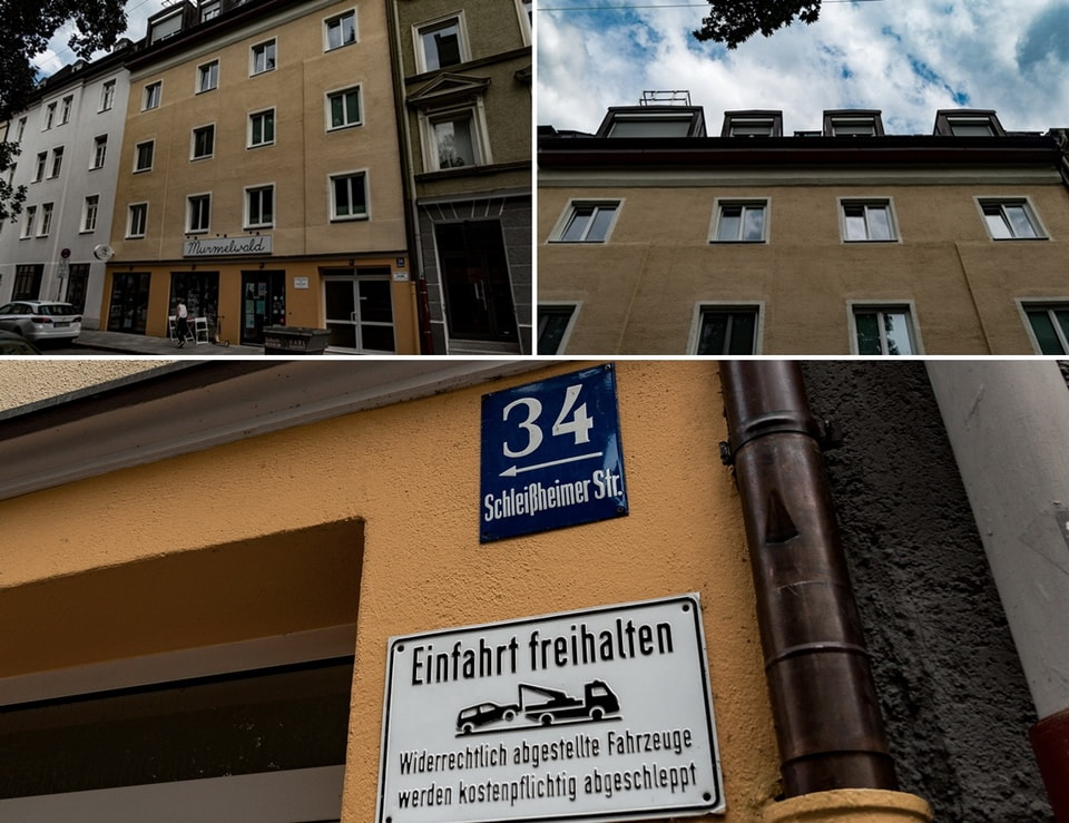 Schle​isshe​imers​trasse 34 Hitler home in Munich