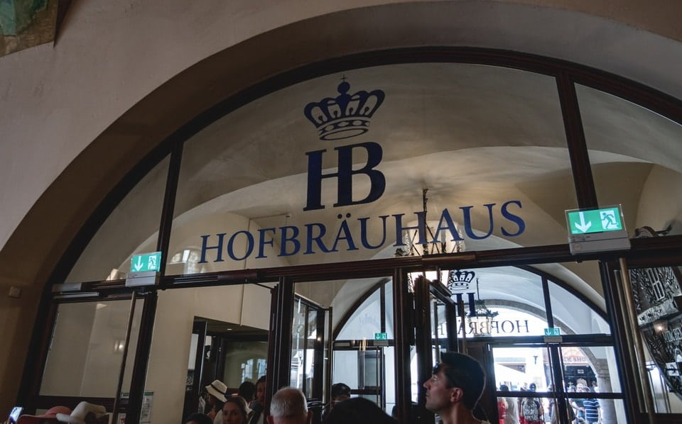 HOFBRAUHAUS beer hall in Munich. Nazi beer halls