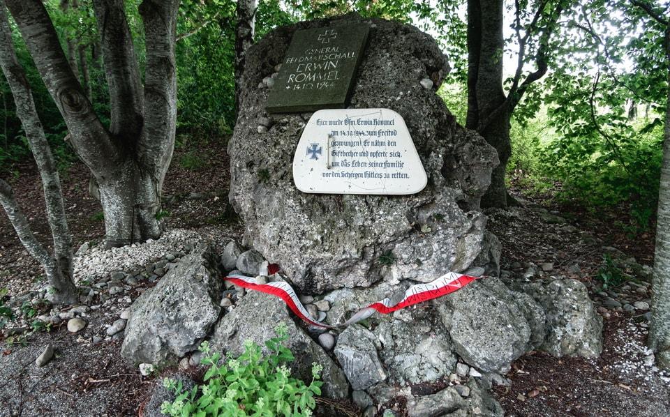 'Erwin Rommel Gedenkstein' (Erwin Rommel Memorial site) Herrlingen
