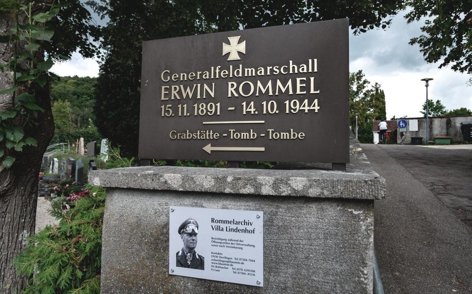 ERWIN ROMMEL'S GRAVE IN HERRLINGEN