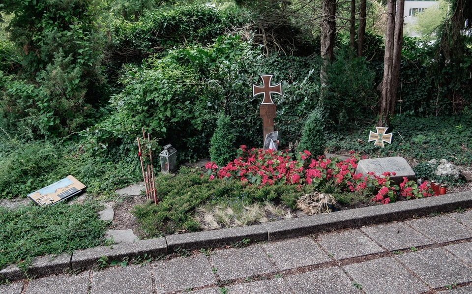 The grave of Erwin Rommel