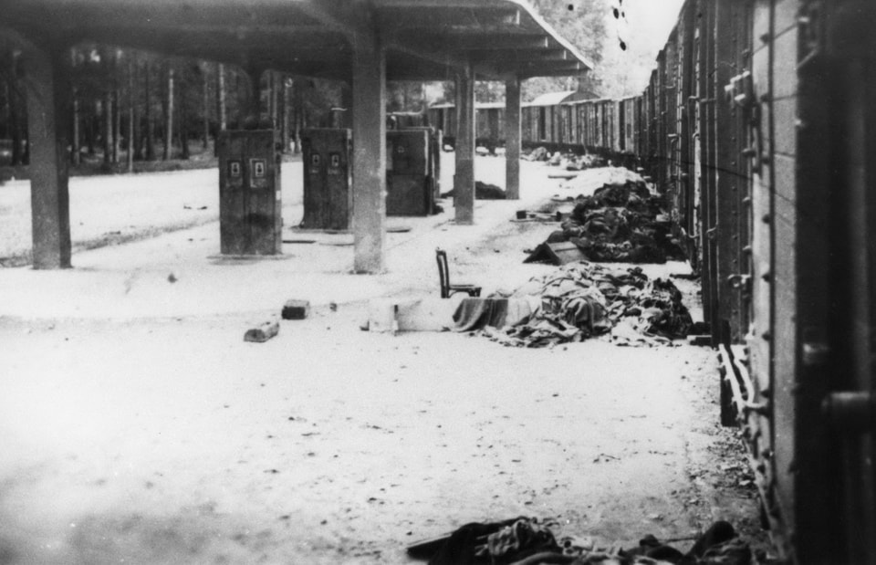 THE LINE OF DEATH inside the Dachau camp