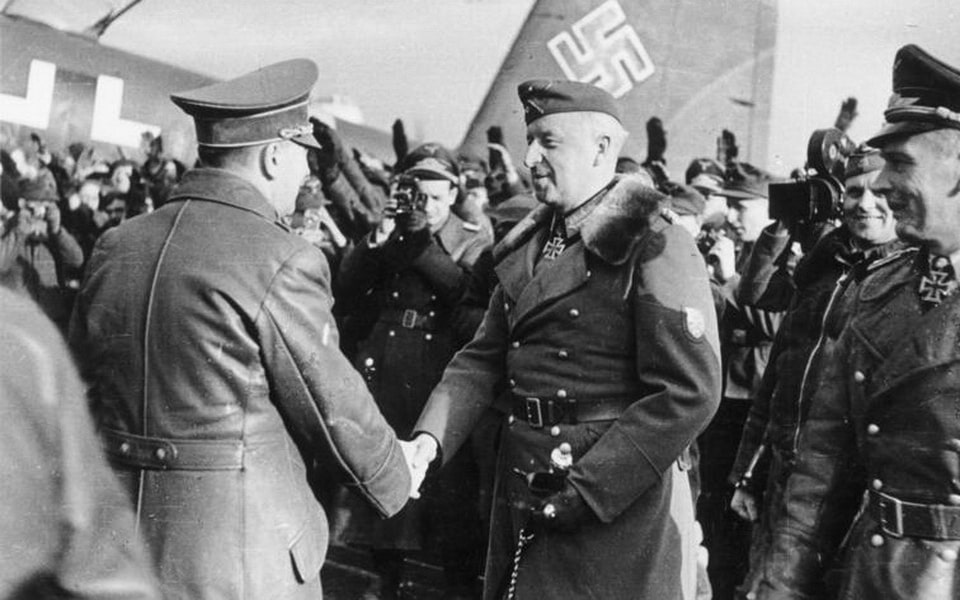 Adolf Hitler and Erich Von Manstein