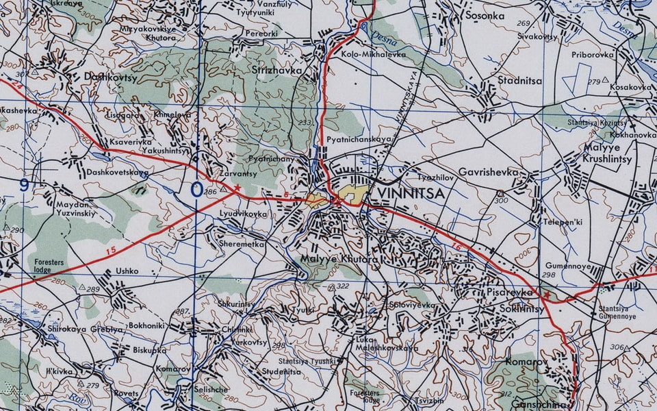 Vinnytsia city 1942 map